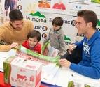 Cejudo y Roberto Torres visitan E.Leclerc con Lacturale