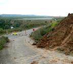 La carretera entre Miranda de Arga y Falces, ya en obras
