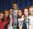 Borja Ekiza visita el colegio San Ignacio de Pamplona