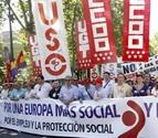 CC OO, UGT y USO exigen a UE un cambio en su política de austeridad