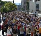 Miles de personas piden la dimisión de Barcina por las dietas en CAN