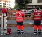 40 voluntarios y cuatro ambulancias de Cruz Roja, en fiestas de Tafalla