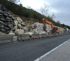 La ronda de Pamplona, entre Arre y Oricáin, sigue cortada al tráfico