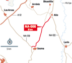 Fomento y municipios discrepan del riesgo de la carretera Allo-Sesma