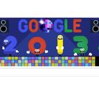 El 'doodle' de Google celebra la Nochevieja