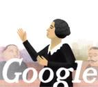 El 'doodle' de Google, dedicado a Clara Campoamor