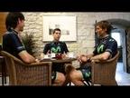 Imanol Erviti reflexiona sobre ciclismo con Gutiérrez y Lastras