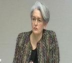 Lourdes Goicoechea retoma su comparecencia tras declarar ayer