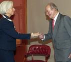 El Rey se reúne con la directora del FMI y el presidente del Eurogrupo