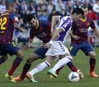 El Valladolid saca los colores al Barça