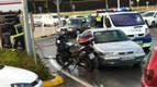 Un accidente sin heridos en la carretera de Badostáin