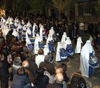 Las bandas de bombos refuerzan la cofradías de Semana Santa de Tudela