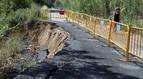 Tudela pide a la CHE reparar el camino de la Mejana hundido hace 2 meses