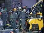 Dos muertos al derrumbarse un viaducto en unas obras del Mundial