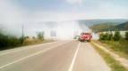 Un camión cargado de paja sufre un incendio sin heridos en Rocaforte