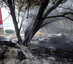 Desactivado el nivel 2 de alerta en el incendio que ha arrasado Ujué