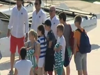 Los hijos de la Infanta Cristina, en Palma con la Reina