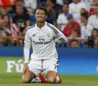 Cristiano Ronaldo, en el partido contra el Atlético