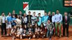Foto con los ganadores del Campeonato Navarro de Tenis