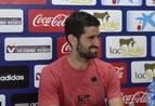 Asier Riesgo, este martes en la rueda de prensa