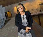 La arqueóloga pamplonesa María García-Barberena, ayer en el Palacio del Condestable