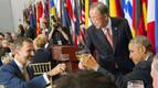 Felipe VI compartió con Ban y Obama la mesa del almuerzo de la ONU