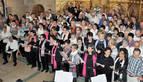 La celebración del festival de villancicos llenó la iglesia de Bargota