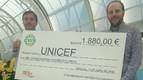 El WP Navarra entrega aportación de 1.880 euros a Unicef
