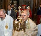 El Ángel de Aralar realiza su tradicional visita al Palacio de Navarra