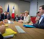 Tsipras se reúne con Hollande y con Merkel antes de la cumbre