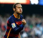 Neymar soluciona los problemas de Barcelona con un doblete