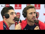 Monreal ejerce de improvisado comentarista del Arsenal