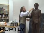 Fabrican un Vladimir Putin de chocolate a tamaño real