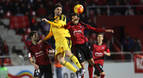 El Mirandés golea a un Osasuna que terminó con nueve