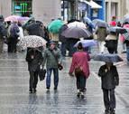 Récord de lluvia en Pamplona: ha llovido el 70% de los días en lo que va de año