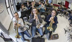 Una trompeta muy cercana