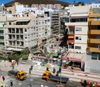 Un muerto y nueve desaparecidos en el derrumbe de un edificio en Tenerife