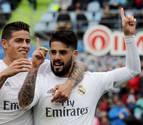 Benzema y James lanzan al Real Madrid y deprimen al Getafe