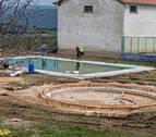 Muniáin prepara  para el verano sus piscinas con una reforma de todo el recinto