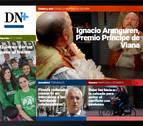 Carriles bici y el Príncipe de Viana de la Cultura, en portada de DN+ Tablet