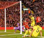 El Villarreal se queda a las puertas de la final tras caer en Liverpool