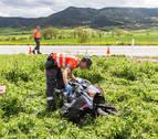 Muere un motorista de 25 años al chocar con un tractor en Lizoain