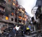 Un gran incendio en el centro de El Cairo causa más de 70 heridos