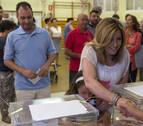 En Andalucía, al 95,45% escrutado, el PP gana con 23 escaños por 20 del PSOE