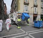 Recogida selectiva de residuos en San Fermín en el Casco Antiguo por primera vez
