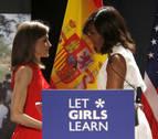La Reina defiende ante Michelle Obama el acceso de las niñas a la educación digital