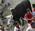 Los peligrosos toros de Victoriano del Río corren hoy en Pamplona