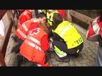 Diez trasladados por traumatismos en un último encierro sin heridos por asta