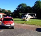 Rescatado en helicóptero un montañero de Zizur en Erratzu