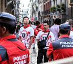 Cuatro denuncias por tocamientos y dos hombres detenidos en Sanfermines
